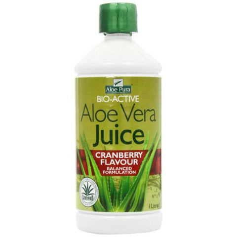 Optima Health Aloe Pura Aloe Vera Cranberry Juice 1L