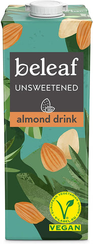Beleaf Unsweetend Almond Drink 1000ml (Pack of 2)