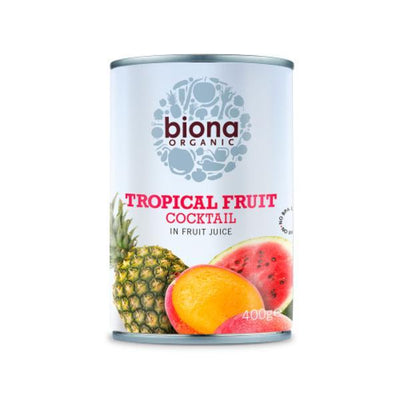 Biona Organic Tropical Fruit Cocktail In Fruit Juice 400g