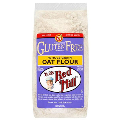 Bobs Red Mill G/F Whole Grain Oat Flour 400g (Pack of 4)