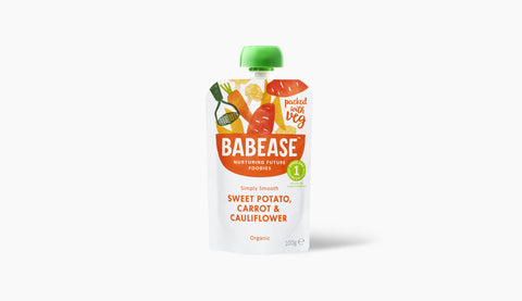 Babease Stage 1 Sweet Potato Carrot & Cauliflower 100g (Pack of 8)