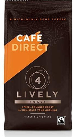 Cafedirect Lively Roast Strength 4 Fairtrade Ground Coffee 227g