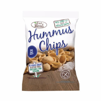 Eat Real Hummus Chip Sea Salt 45g (Pack of 12)
