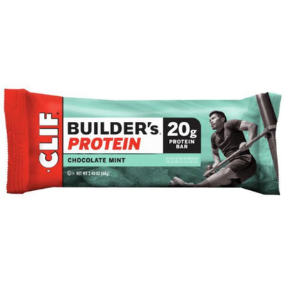 Clif Bar Builders Chocolate Mint Bar 68g (Pack of 12)