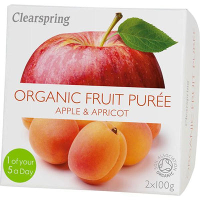 Clearspring Fruit Puree Apple & Apricot 2x100g