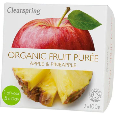 Clearspring Organic Fruit Puree Apple & Pineapple 2 x 100g