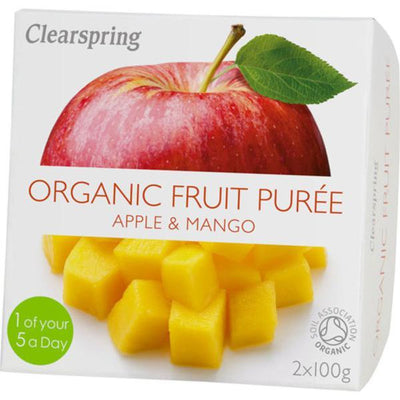 Clearspring Fruit Puree Apple/Mango 2x100g
