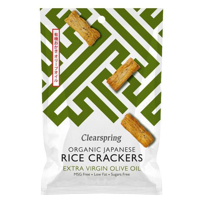 Clearspring Organic Rice Crackers Olive Oil 50g