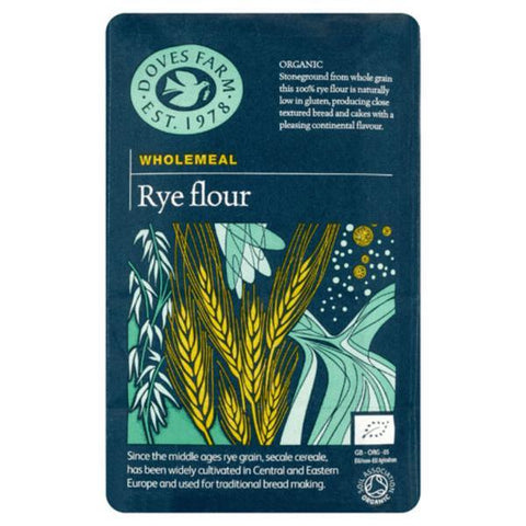 Doves Farm Wholemeal Rye Flour 1kg (pack of 5)