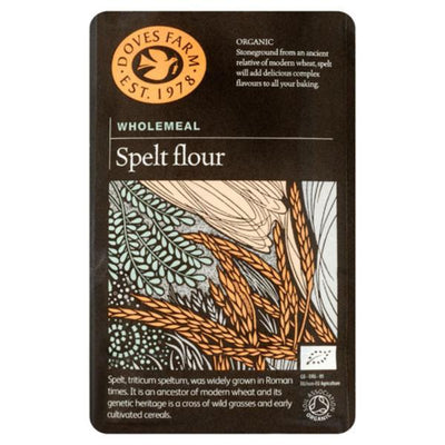 Doves Farm Organic Whole Spelt Flour 1kg (pack of 5)