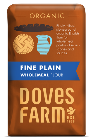 Doves Farm Plain English Wholemeal Flour 1kg (pack of 5)
