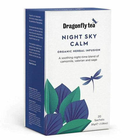 Dragonfly Tea Night Sky Calm Organic Herbal Infusion 20 Sachets