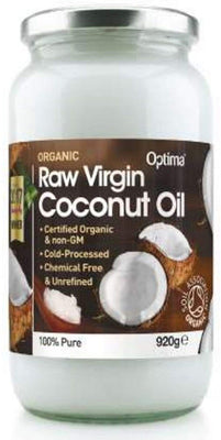 Optima Organic Raw Virgin Coconut Oil 920g