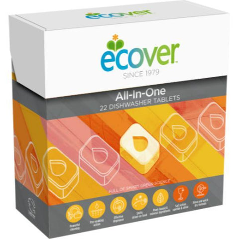 Ecover Dishwash All in One 22 Tablets