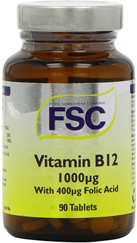 FSC Vitamin B12 1000Ug With 400Ug Folic Acid 90 Tablets