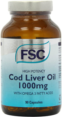 FSC High Potency Cod Liver Oil 1000Mg 90 Softgel Capsules