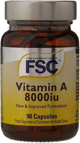 FSC Vitamin A 8000Iu 90 Softgel Capsules
