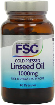 FSC Cold Pressed Linseed Oil 1000Mg 60 Softgel Capsules