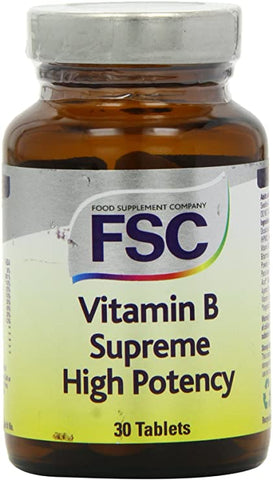 FSC Vitamin B Supreme High Potency 30 Tablets