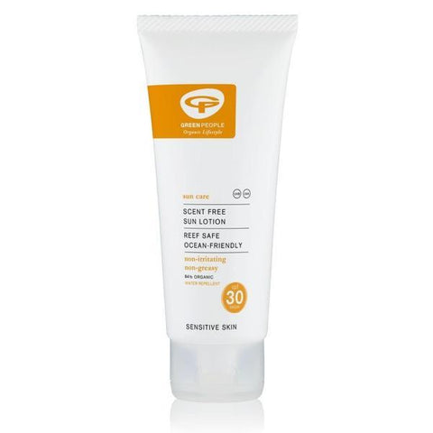 Green People Scent Free Sun Lotion SPF30 Travel Size 100ml