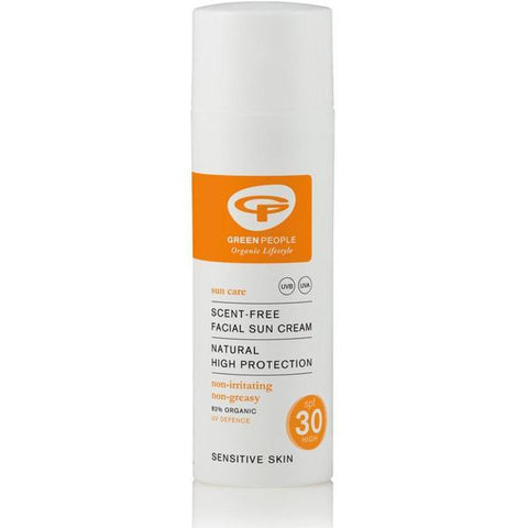 Green People Facial Sun Cream Scent Free SPF30 50ml