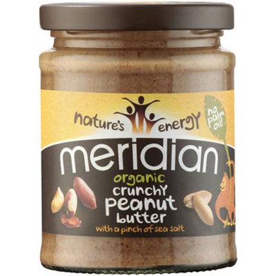 Meridian Organic Crunch Peanut Butter with Pinch of Salt 280g
