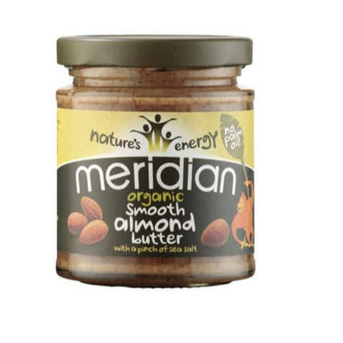 Meridian Organic Smooth Almond Butter with Salt 170g