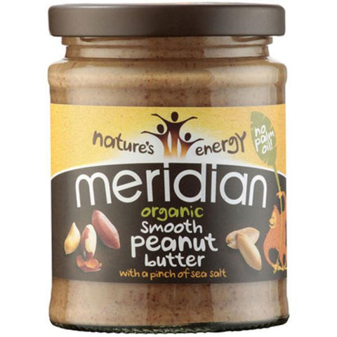 Meridian Organic Smooth Peanut Butter with Pinch of Salt 280g