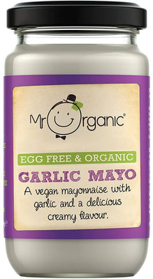 Mr Organic  Egg Free and Organic Garlic Mayonnaise 180g