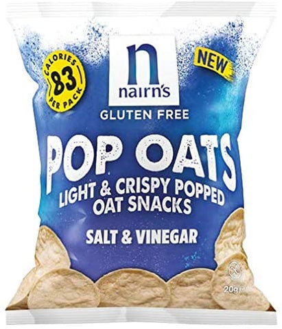 Nairn's Oatcakes Gluten Free Pop Oats Salt & Vinegar 20g (Pack of 14)
