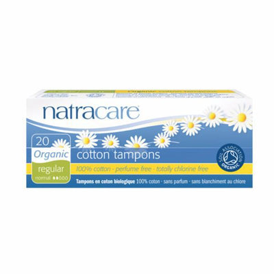 Natracare Org Non Applicator Tampons Reg 20 Pieces