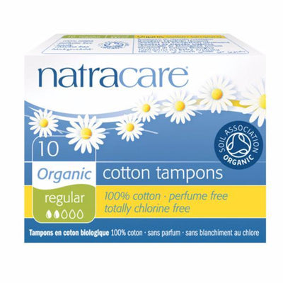 Natracare Org Non Applicator Tampons Reg 10 Pieces