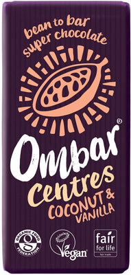 Ombar Vanilla & Coconut Centre 35g (Pack of 10)