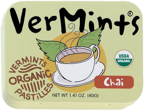 VerMints Organic Chai 40g (Pack of 6)