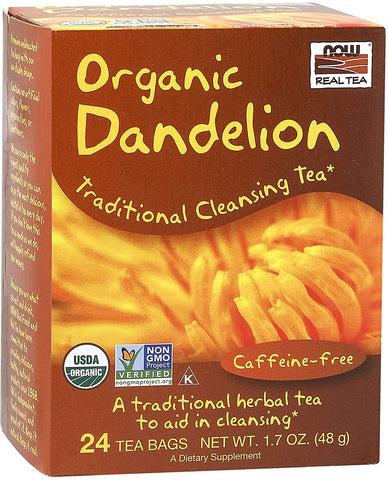 NOW Foods Dandelion Cleansing Herbal Tea - 24 tea bags