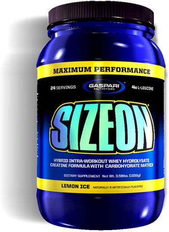 Gaspari Nutrition SizeOn - Maximum Performance, Lemon Ice - 1632g