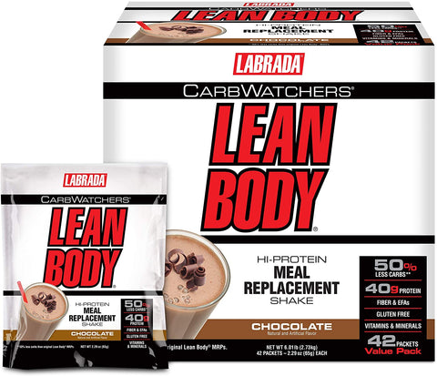 Labrada Carb Watchers Lean Body MRP, Chocolate - 42 packets