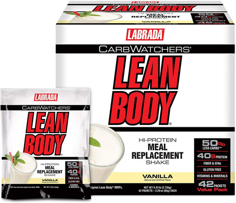 Labrada Carb Watchers Lean Body MRP, Vanilla - 42 packets
