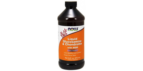 NOW Foods Glucosamine & Chondroitin with MSM Liquid - 473ml.