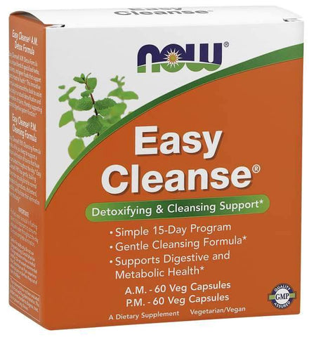 NOW Foods Easy Cleanse - AM & PM - 120 vcaps