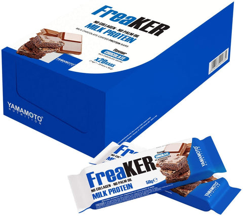 Yamamoto Nutrition FreaKER, Vanilla & Choco Brownie with Dark Chocolate Coating - 20 x 50g
