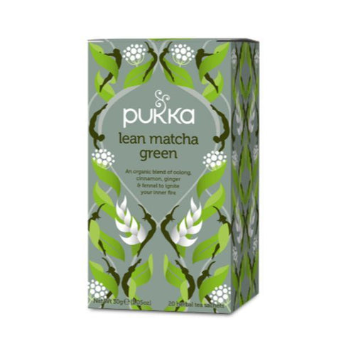Pukka Lean Matcha Green Tea 20 Tea Sachets (Pack of 4)