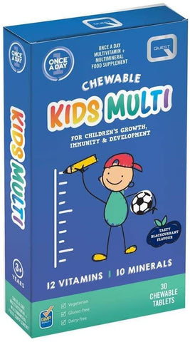 Quest Once A Day Kids Chewable Multi 30 Tablets
