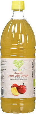 SuperfoodUK Organic Apple Cider Vinegar with Mother | Raw | Unfiltered