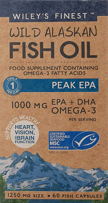 Wiley's Finest Peak EPA Fish Oil Capsules - 60 caps