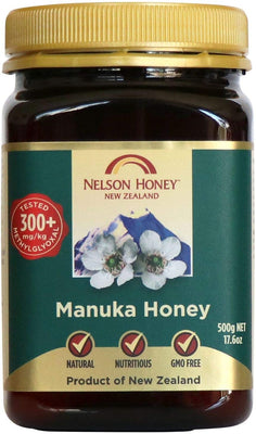 Nelson Honey New Zealand Manuka Honey (300+) 500g