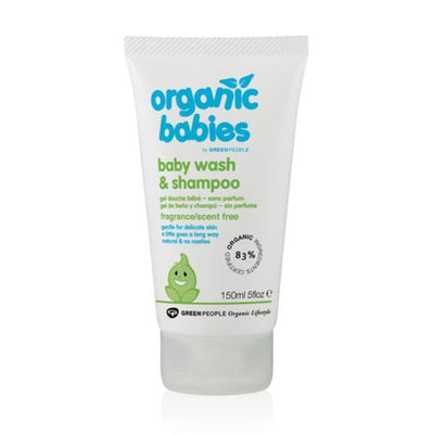 Green People Company 150ml Organic Scent Free Baby Wash and Shampoo