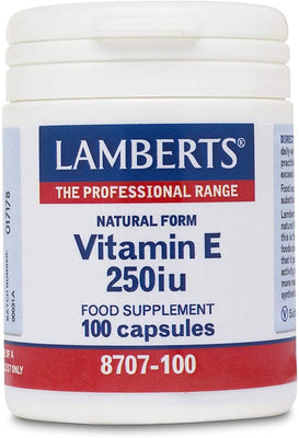 Lamberts Vitamin E 250iu (168mg) - 100 Caps