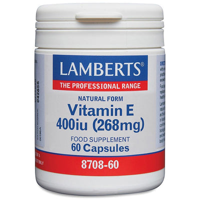 Lamberts Natural Vitamin E 400iu - 60 Caps