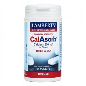 Lamberts CalAsorb - Calcium 800mg (as citrate) - 60 Tabs